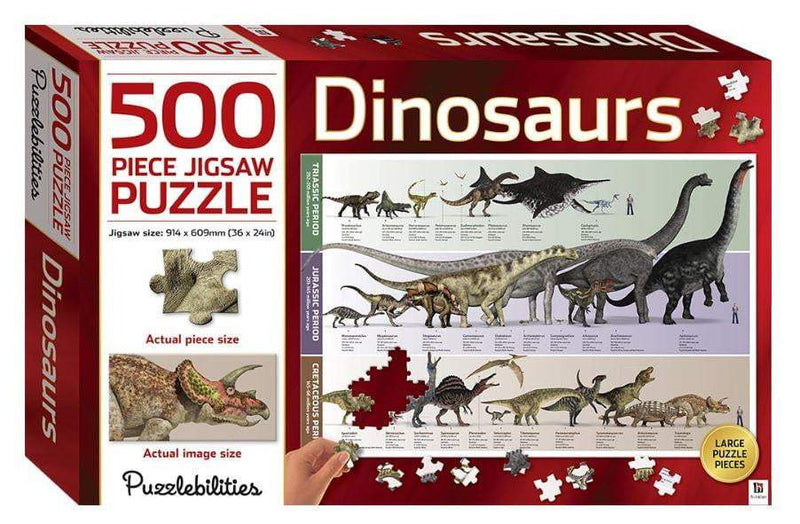 Dinosaurs 500 Piece Jigsaw Puzzle - The Reading Nook