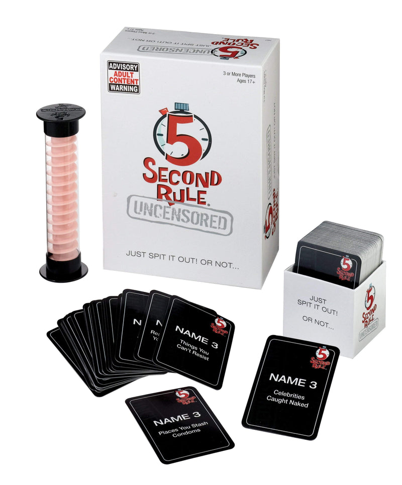 5 Second Rule Uncensored Card Game - The Reading Nook