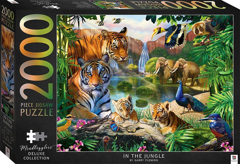 Mindbogglers - Deluxe: In The Jungle 2000 Piece Jigsaw Puzzle - The Reading Nook