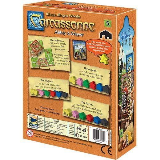 Carcassonne Expansion 5: Abbey & Mayor Board Game - The Reading Nook
