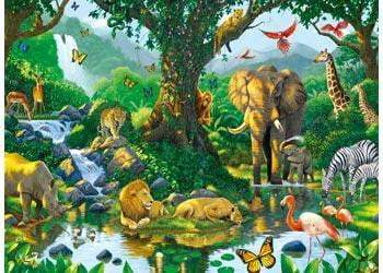 Ravensburger - Harmony in the Jungle Puzzle 500pc - The Reading Nook