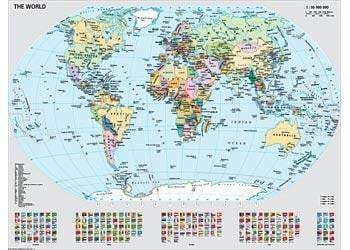Ravensburger - Political World Map Puzzle 1000pc - The Reading Nook