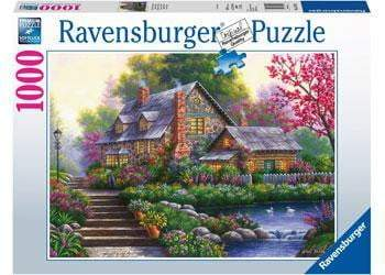 Ravensburger - Romantic Cottage Puzzle 1000pc - The Reading Nook