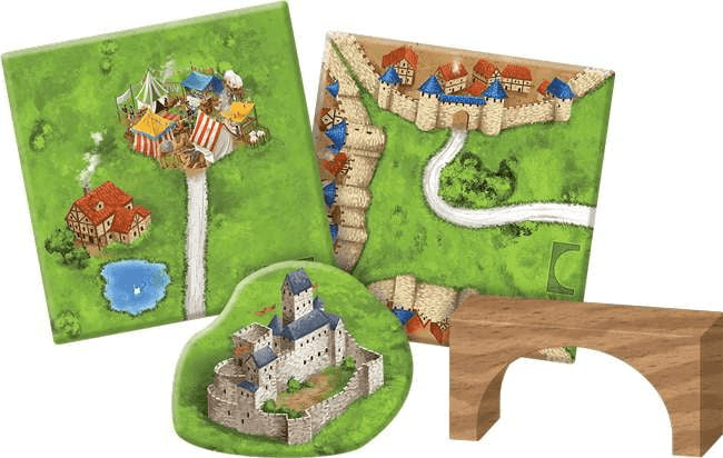 Carcassonne Expansion 8: Bridges, Castles & Bazaars Board Game - The Reading Nook