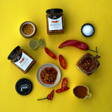 Red Chilli Pickle with Chana Dal
