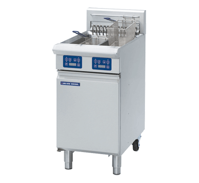 Blue Seal Evolution Twin Tank Fryer with Elec Controls Electric 450mm E44E