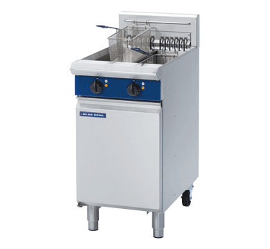Blue Seal Free Standing Electric Twin Fryer 450mm E44