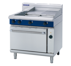 Blue Seal Evolution Electric 2 Element/2 Griddle Convection Oven Range 900mm E56B