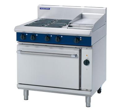 Blue Seal Evolution Electric 4 Element/1 Griddle Convection Oven Range 900mm E56C