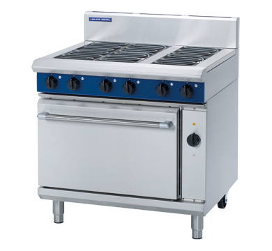 Blue Seal Electric 6 Element Oven Range with Convection Oven 900mm E56D