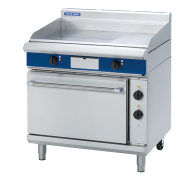 Blue Seal Evolution Chrome 1/3 Ribbed Full Griddle Static Oven Electric 900mm EPE506