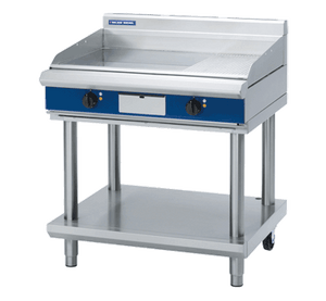 Blue Seal Evolution 1/3 Ribbed Full Griddle with Leg Stand Electric 900mm EP516-LS