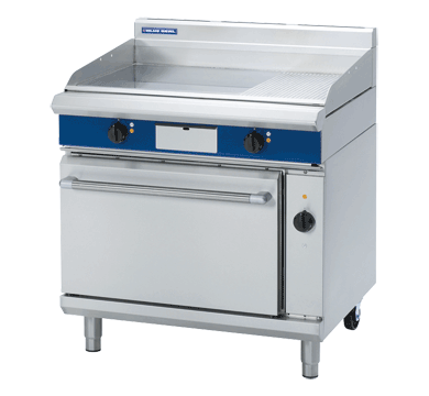 Blue Seal Evolution Chrome 1/3 Ribbed Full Griddle Convection Oven Electric 900mm EPE56