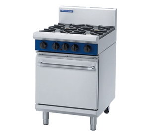 Blue Seal 4 Burner Static Gas Oven Range 600mm G504D