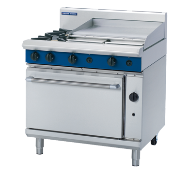 Blue Seal 2 Burner/2 Griddle Gas Oven Range 900mm G506B