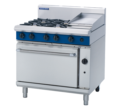 Blue Seal 4 Burner/1 Griddle Gas Oven Range 900mm G506C