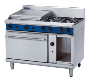 Blue Seal Evolution 4 Burner/2 Griddle Static Oven Gas 1200mm G508B