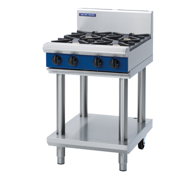 Blue Seal Evolution Cooktop 4 Open Burners Gas on Stand 600mm G514D-LS