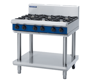 Blue Seal Evolution Cooktop 6 Open Burners Gas on Stand 900mm G516D-LS