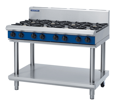 Blue Seal Evolution Cooktop 8 Open Burners Gas on Stand 1200mm G518D-LS