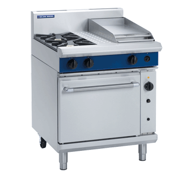 Blue Seal Evolution 2 Burner/Griddle Convection Oven Gas 750mm G54C