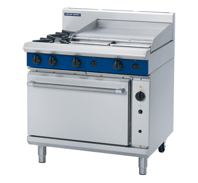 Blue Seal 2 Burner/2 Griddle Gas Convection Oven Range 900mm G56B