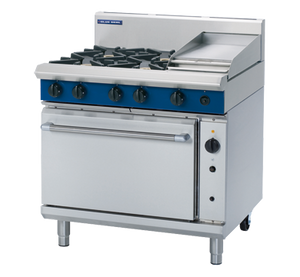 Blue Seal 4 Burner/1 Griddle Gas Convection Oven Range 900mm G56C