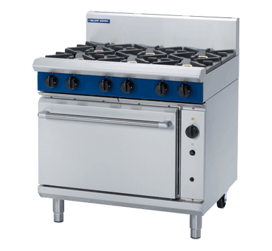 Blue Seal Fan 6 Burner Gas Convection Oven Range 900mm G56D