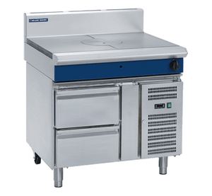 Blue Seal Evolution Target Top with Refrigerated Base Gas 900mm G57-RB