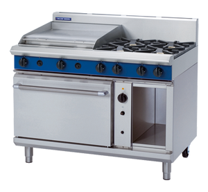 Blue Seal Evolution 4 Burner/2 Griddle Convection Oven Gas 1200mm G58B