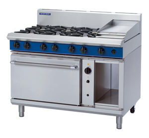 Blue Seal Evolution 6 Burner/1 Griddle Convection Oven Gas 1200mm G58C