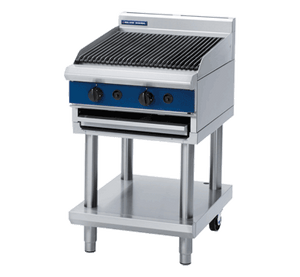 Blue Seal Gas Chargrill On Leg Stand 600mm G594