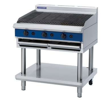Blue Seal Gas Chargrill On Leg Stand 900mm G596