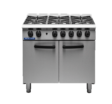 Blue Seal 6 Burner Oven Range Medium Duty Gas 900mm G750-6
