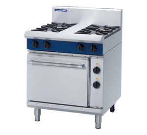 Blue Seal Evolution 4 Burner Electric Static Oven Gas 750mm GE505D