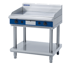 Blue Seal Evolution Chrome 1/3 Ribbed Full Griddle with Leg Stand Gas 900mm GP516-LS