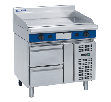 Blue Seal Evolution Full Griddle Refrigerated Base Gas 900mm GP516-RB