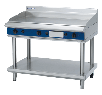 Blue Seal Evolution Chrome Full Griddle with Leg Stand Gas 1200mm GP518-LS