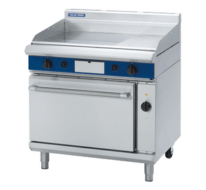 Blue Seal Evolution Gas 1/3 Ribbed Full Griddle Electric Convection Oven 900mm GPE56