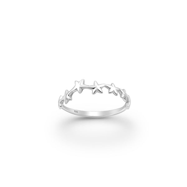 MULTI STARFISH,RING, STERLING SILVER 925