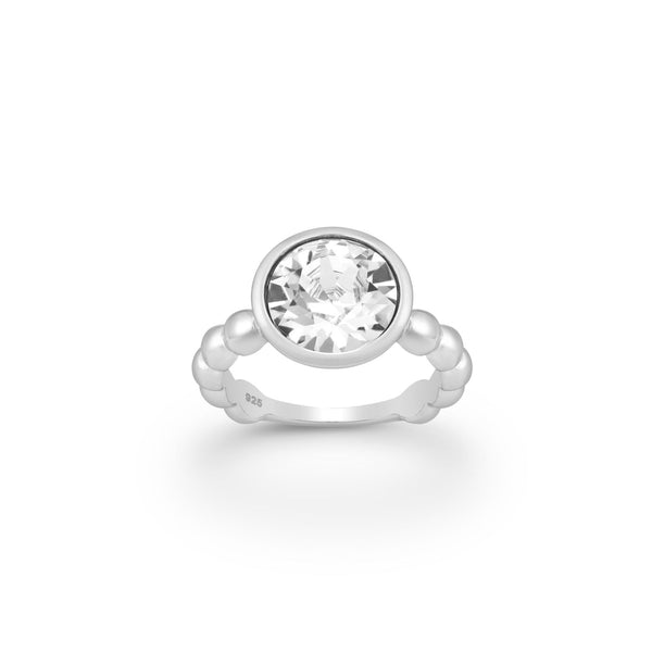 ROUND SPARKS,RING, STERLING SILVER 925