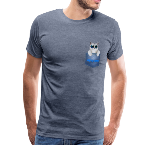 Cat in Pocket Men's Premium T-Shirt - Anything Goes store