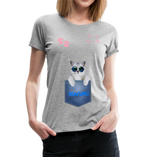 Cat in Pocket Women's Premium T-Shirt - Anything Goes store