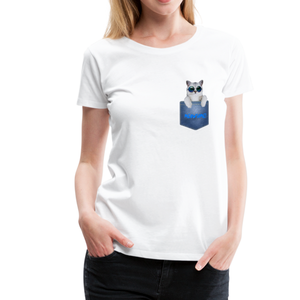 Cat in Pocket - Women's Premium T-Shirt - Anything Goes store