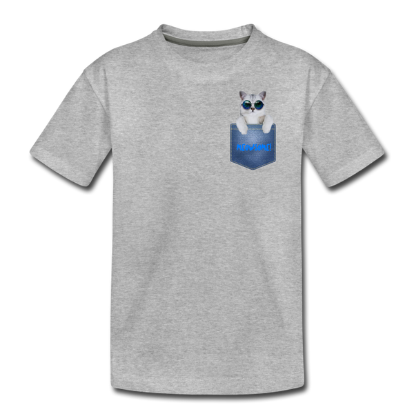 Cat in Pocket Kids' Premium T-Shirt - Anything Goes store