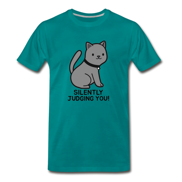 SILENTLY JUDGING YOU! CAT Men's Premium T-Shirt - Anything Goes store