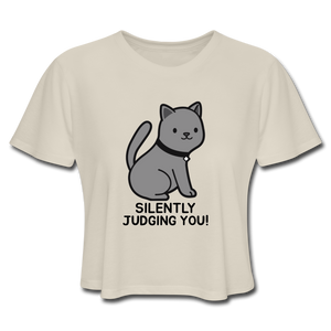 SILENTLY JUDGING YOU! Women's Cropped T-Shirt - Anything Goes store