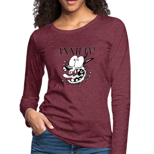 ANXIETY! Women's Premium Long Sleeve T-Shirt - Anything Goes store