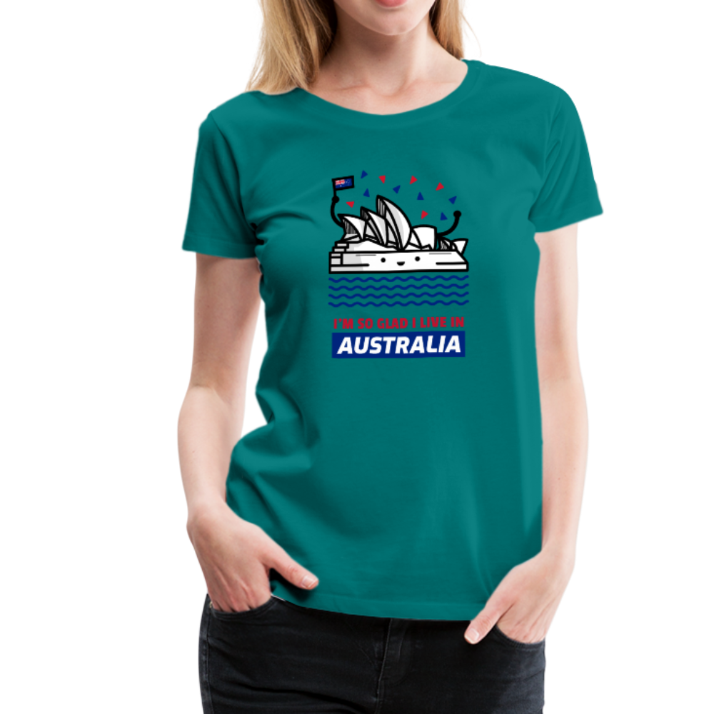 Proud Aussie Women's Premium T-Shirt - Anything Goes store