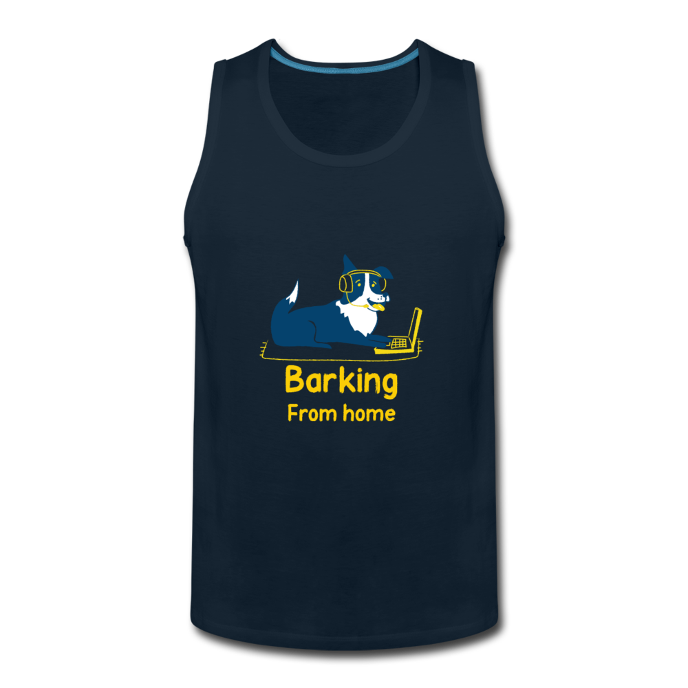Barking From Home Men's Premium Tank - Anything Goes store